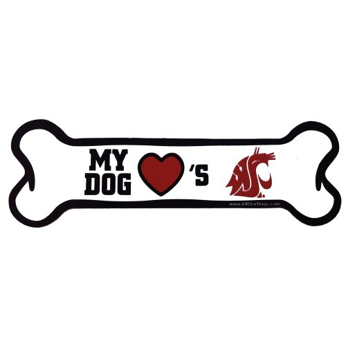 (NCAA Washington State Cougars Bone Shaped Car Magnet)
