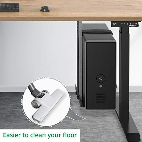 Eureka Ergonomic Computer Cart Height-Adjustable Mobile CPU Stand Suitable for Standing Desk Converters Black by Eureka Ergonomic (Image #1)