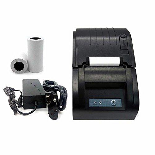 Thermodrucker Bondrucker Schwarz Kassendrucker 58mm POS Drucker PRINTER+2 Papierrolle in
