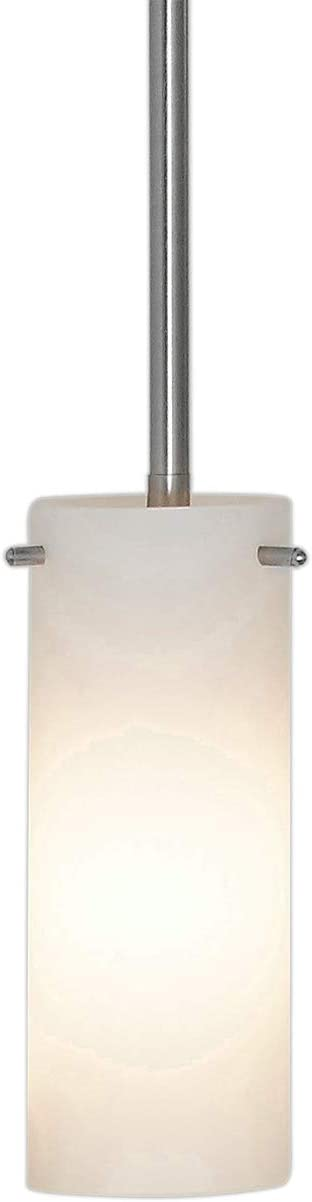New Simple Modern Frosted Glass Pendant Light Brushed Finish Contemporary Sleek Cylinder Design Frosted Fixture