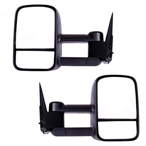 DEDC Tow Mirrors for Chevy Silverado GMC Sierra 99-06 Truck Towing Mirrors Pair 1999 2000 2001 2002 2003 2004 2005 2006 by DEDC