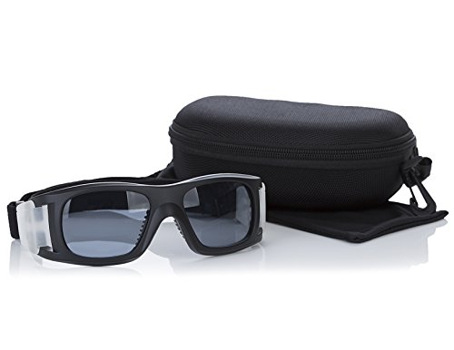 Inertia Sports Premium Outdoor Sports Goggles w/Tinted Lens + Case - for Soccer, Basketball, Rugby, Flag Football, Softball