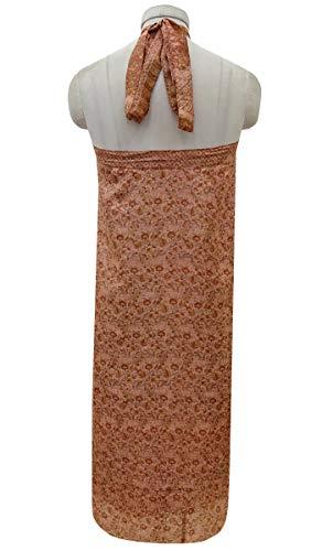 Dress Indianbeautifulart et Saree Vintage Clair Moyen Saumon Beach Check Femmes Pure Soie Rouge Wrap Summer rversible Les Imprimer Orange gwxaOrqgH