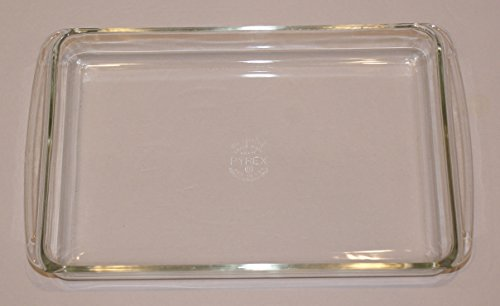 Vintage Pyrex 233 Clear Glass Rectangle Lasagna Casserole Dish 13 1/2 x 8 3/4 inch