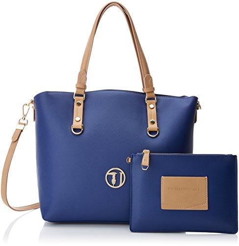 Trussardi Jeans 75B00373 Borsa A Spalla Donna argento UNICA Blu
