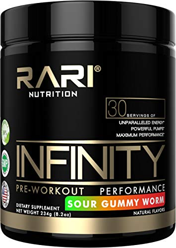 RARI Nutrition - INFINITY - 100% Natural Preworkout Powder for Energy, Focus, and Performance - Men and Women - Vegan and Keto Friendly - No Creatine - 30 Servings (Sour Gummy Worm) (Fuel Pump Creatine)