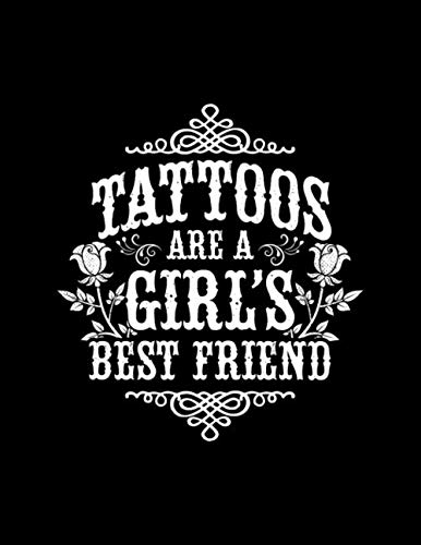 Tattoos are a Girl's Best Friend: Tattoo Sketchbook Art Sketch Pad for Tattoo Designs - 100 Blank Numbered Pages for Drawing & Doodling - 8.5