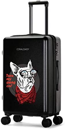 Color : Black, Size : S Tjtz Universal Wheel Trolley case Luggage Small Fresh Suitcase