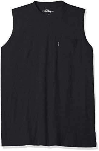 Key Apparel Men's Sleeveless Tee, Navy, Medium - Mens Sleeveless Pocket