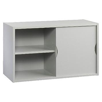 Sliding Door Modular Storage Unit   Grey