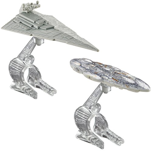Hot Wheels Star Wars Starship Star Destroyer vs. Mon Calamari Cruiser Vehicle 2-Pack (Star Wars Die Cast Ships compare prices)