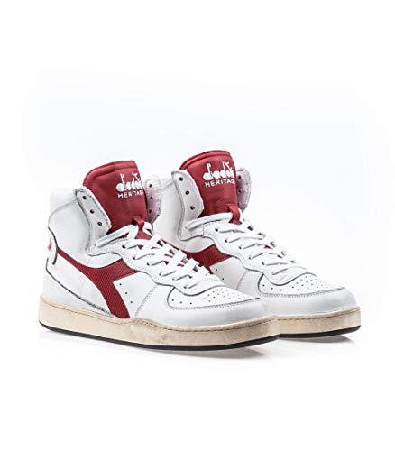 Diadora Eu Sneakers Mi Heritage Basket Marrone Pelle Used Uomo 45 rwzrYxnH