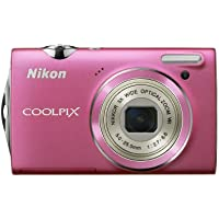 Nikon Coolpix S5100 12.2 MP Digital Camera with 5x Optical Vibration Reduction (VR) Zoom and 2.7-Inch LCD (Pink) Basic Facts Review Image
