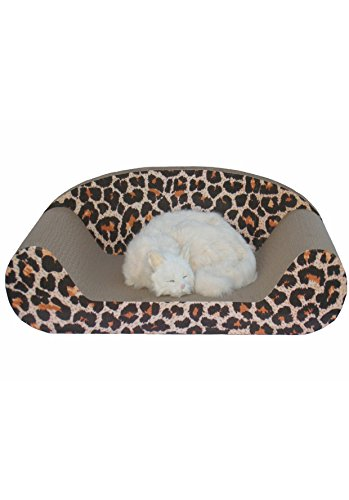 Go Pet Club CP-015 Giant Lounge Shape Recycled Paper Cat Scratching Board with Catnip