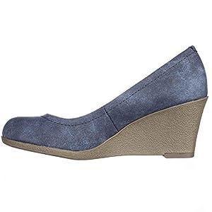 American Living Mikala Women US 7.5 Blue Wedge Heel