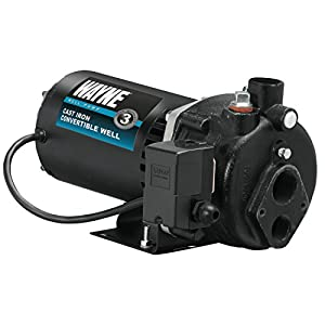 6. WAYNE CWS75 3/4 HP Cast Iron Convertible Well Jet Pump for Wells up to 90 ft.