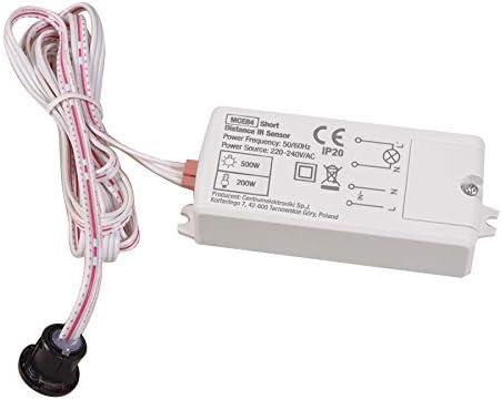 Detector de Presencia PIR de Corto Alcance Empotrado Maclean Energy MCE84
