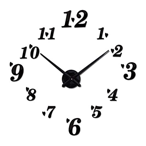 Kamas top Fashion 3D Wall Clock reloj de pared Quartz Watch Brief DIY Clocks Living Room