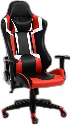 QYBAMZLD Chaise de Bureau Confortable Chaises de Bureau de Jeux de Jeu de Godets en Cuir PU Chaises d'ordinateur