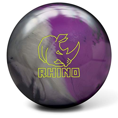 Brunswick-Rhino-Reactive-PRE-DRILLED-Bowling-Ball-CharcoalSilverViolet