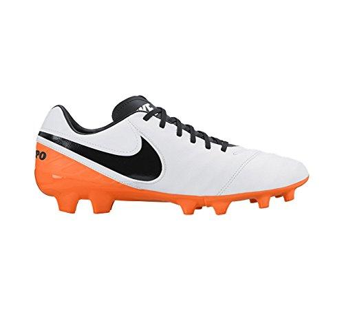 Nike Tiempo Mystic V FG Scarpe da Calcio per Terreni duri, Uomo Bianco (White/Black/Total Orange)