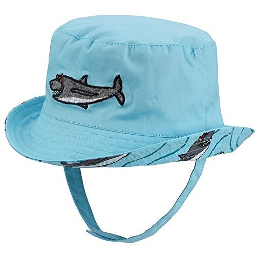 Baby Sun Hat Double Sides - Toddler Sun Hat UPF 50+ Kids Summer Play Beach Fishing Cap (Shark, ()