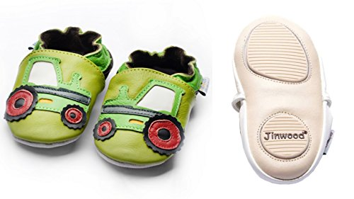Jinwood designed by amsomo - Patucos para niña Multicolor - tractor green mini shoes