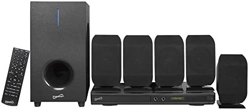 SuperSonic – 5.1 Channel DVD Residence Theater System with USB Enter & Karaoke Perform, Residence Theater Methods – Black (SC-38HT)