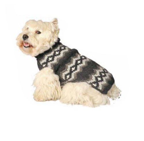 Chilly Dog Grey Diamonds Dog Sweater, Large by Chilly Dog