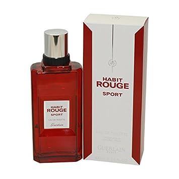7953f6626f0b0 Amazon.com : HABIT ROUGE Sport by Guerlain Eau De Toilette Spray 3.4 oz for  Men : Beauty