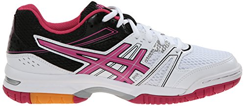Asics Womens Gel Rocket 7 Volley Ball Shoe Bianco / Magenta / Nero