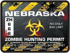 Reflective nebraska zombie hunting permit for Nebraska fishing license