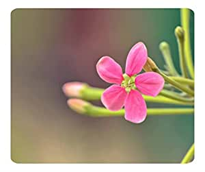 Decorative Mouse Pad Art Print Landscape and Plants Pink Small Flower by runtopwell