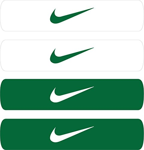 Nike Home and Away Dri-Fit Bands (Forest Green/White, Osfm)