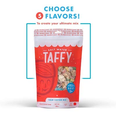 Taffy Shop Create a 5 pound bag of Assorted Saltwater Taffy-Choose up to 5 Flavors of Gourmet Salt Water Taffys (Worlds Best Taffy)