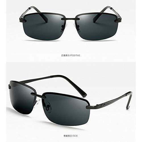 Sol Hombre Gafas Burenqiq de de Black Retro Conductor frame Sol Gafas Espejo gray de armazón polarizadas del piece Gafas de conducción Gris para polarizadas Sol Pieza qEqwrdOx