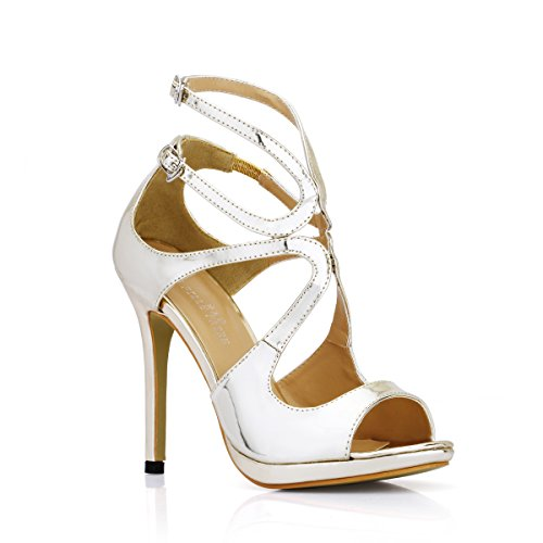 Mirror Dress Summer donna Tacchi prodotti Red Wine Nuovi Gold Sandali Tape Light alti Scarpe Temperament wpSqTZZg