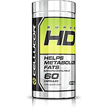 Cellucor Super Hd Thermogenic Fat Burner Supplement for Weight Loss, 60 Capsules