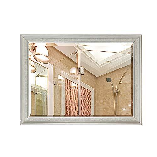 Bathroom mirror Mirror, American Wall Mounted Dressing Table Waterproof Toilet Side Hanging Mirror Vanity Mirror Dressing Mirror (Color : B, Size : 5070cm) ()