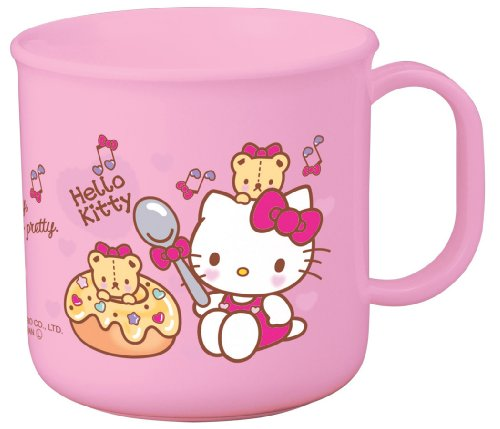 1 X Sanrio Hello Kitty Design Microwavable Plastic Cup (Volume: 200ml)