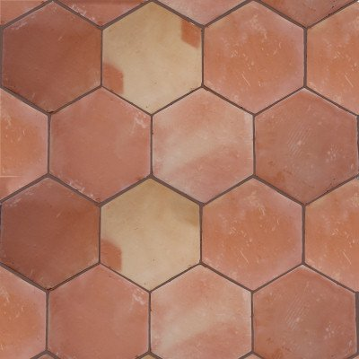 - 5 pcs Hexagon Clay Saltillo Tile