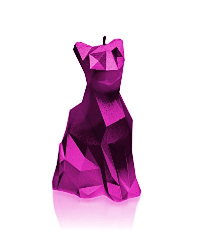Candellana Candles 5902815460848 Cat Poly Candle, Large, Pink High Glossy by Candellana Candles