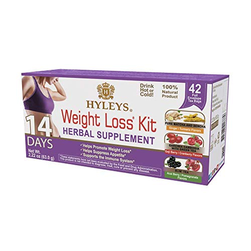 HYLEYS Tea 14 Days Weight Loss Kit – 42 Tea Bags (100% Natural, Sugar Free, Gluten Free and Non-GMO), 14 Day Weight Loss…