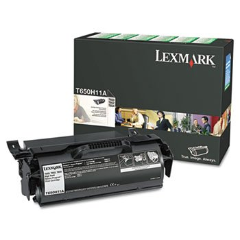 - Lexmark T650H11A High-Yield Toner, 25000 Page-Yield, Black