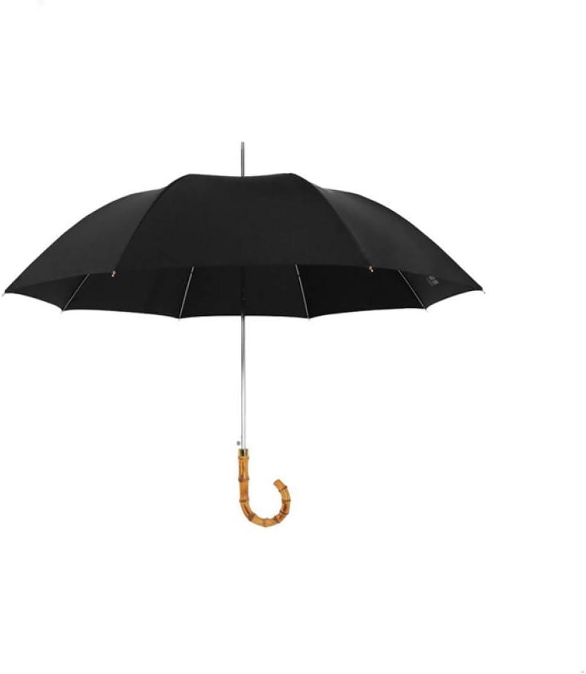 LDSBGJ Parapluie Droit en Bambou pour Hommes Parapluie Long Manche Parapluie en Bambou