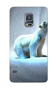 Fashion Crqalm-6625-hssijnp Case Cover Series For Galaxy note4(animal Polar Bear Polarbear Bear Arctic Snow)