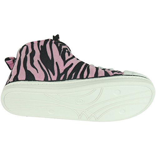 Home Pantoffels Dames Warm Winter Pluche Indoor House Outdoor Sneakers Pantoffels Boots Pink Zebra