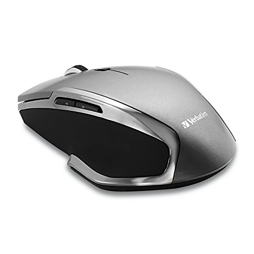 - Verbatim Wireless Notebook 6-Button Deluxe Mouse - Ergonomic, Blue LED, Portable Mouse for Mac and Windows - Black