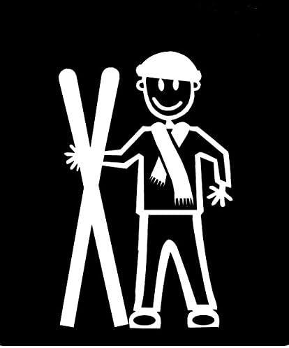 My Stick Figure Family Familie Autoaufkleber Aufkleber Sticker Decal älterer Junge Schnee Skifahren Snow Skiing Tm14 Auto
