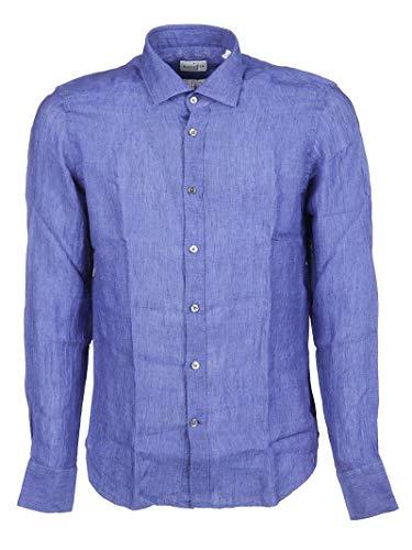 Bagutta Men's Eblcn0045006626057 Blue Linen Shirt
